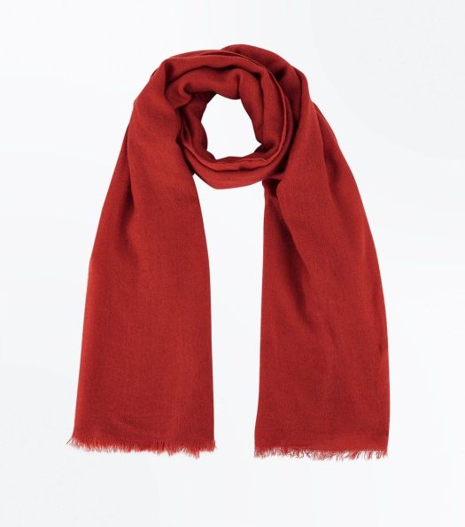orange-fray-hem-scarf